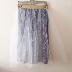 Anthropology - Tulle Skirt by Alexandr Grecco sz 6 Alexandra Grecco for Anthropologie size 6. Tulle has slightly torn in the back. Worn once. Sold out everywhere Anthropologie Skirts Midi