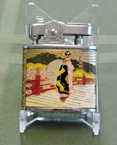 """Vintage """"Geisha"""" Cigarette Lighter, Made in Japan."""
