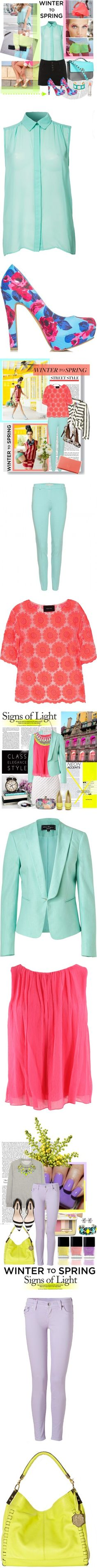 """Winter to Spring Trend: Pastels + Neon"" by polyvore-editorial on Polyvore"