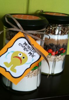 Monster Cookie Mix for Halloween/Fall Teacher gifts.