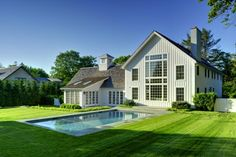 Contemporary Barn Home in East Hampton by Yankee Barn Homes