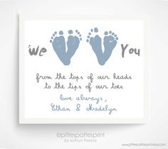 Father's+Day+Gift+from+Twins++Personalized+by+PitterPatterPrint,+$40.00