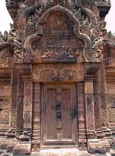 grvnge:    Banteay Srei Doorway  Angkor Wat's most intricately detailed temple.  Cambodia