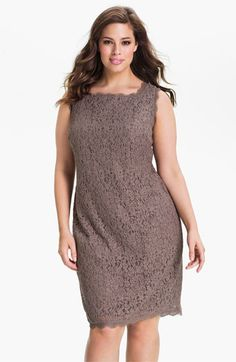 47605a72756 Adrianna Papell Sleeveless Lace Sheath Dress (Plus Size)