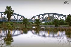 The Blue Nile bridge before sunset, Khartoum    كبري النيل الأزرق قبل الغروب #السودان   (By Dia Eldin Khalil)   #sudan #bluenile #khartoum #bridge