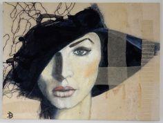 Doris Breuer Aus der serie la femme Öl/Filz auf Leinwand 60 x 80