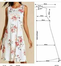 Fashion Sewing, Diy Fashion, Fashion Dresses, Dress Sewing Patterns, Clothing Patterns, Sewing Clothes, Diy Clothes, Simple Dresses, Casual Dresses