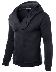 Mens Casual Slim Fit Hood Jacket #doublju