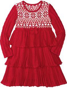 Knitting In Swedish Sweater Dress - Audrey's Christmas Dress 2012