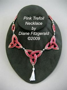 this piece is from Diane Fitzgerald's Shaped Beadwork: Dimensional Jewelry with Peyote Stitch. This master jeweler and multibook author spent much time and care figuring out the construction of shaped beads—the two- and the three-dimensional kinds. That means that, thanks to her patience and creativity, handmade beads now can resemble high-end dimensional necklaces and bracelets from designer brands