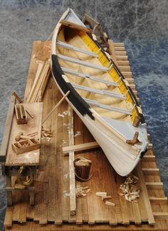 Building a whale boat model