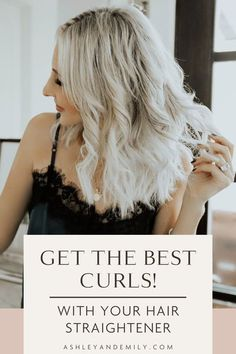 Ready for Cute Loose Beach Waves? Here is a step by step tutorial on how to curl your hair, short or long, with a hair straightener. It's easy! This is a game changer! Perfect beach waves for short hair or longer hair. A quick guide on curling with a flat iron for soft, natural curls! You can make your curls messy or wavy and this works for all types of hair. #beauty #hairstyle #curls