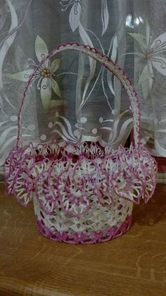 Pin by mari on クロッシェレース Crochet Basket Pattern, Christmas Crochet Patterns, Crochet Motif, Crochet Doilies, Free Crochet, Doily Patterns, Craft Patterns, Vintage Patterns, Pinterest Crochet