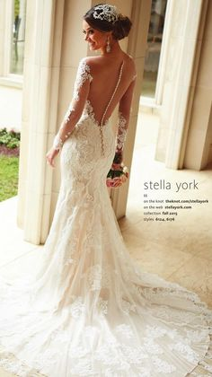 Stella York Wedding Dresses - Search our photo gallery for pictures of wedding dresses by Stella York. Find the perfect dress with recent Stella York photos. 2016 Wedding Dresses, Wedding Dress Styles, Bridal Dresses, Dresses Dresses, 2015 Dresses, Long Dresses, Dresses Online, Bridesmaid Dresses, Long Sleeve Wedding