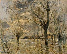 """Vetheuil, L'Inondation"" ・ by Claude Monet ・ Completion Date: 1881 Style: Impressionism ・ Genre: landscape"