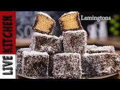 💯Lamingtons Συνταγή / Χιονάτη με Σοκολάτα και Ινδοκάρυδο👌 - LAMINGTONS Recipe ♥ Super Easy - YouTube Lamingtons Recipe, Cupcake Cakes, Cupcakes, Kitchen Living, Macarons, Cooking Recipes, Cookies, Easy, Desserts