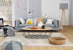 Finde skandinavische Wohnzimmer Designs in Grau: . Entdecke die schönsten Bilder zur Inspiration für die Gestaltung deines Traumhauses.