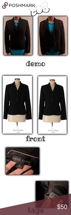 Ann Klien charcoal blazer ☁☕☁Comfortable and fashionable formal jacket. Its really comfortable, and can honestly go with anything  ☁☕☁ 🌙Size: 6, small/medium 🌙 Material: 100% polyester 🌙Brand: Ann Klien 🌙Made in China ann klien Jackets & Coats Blazers