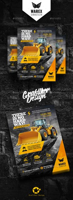 Buy Construction Flyer Templates by grafilker on GraphicRiver. Construction Flyer Templates Fully layered INDD Fully layered PSD 300 Dpi, CMYK IDML format open Indesign or late. Template Flyer, Letterhead Template, Business Flyer Templates, Brochure Template, Design Poster, Flyer Design, Layout Design, Web Design, Graphic Design