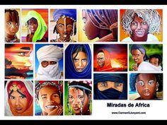 "\""CARMEN G. JUNYENT - MIRADAS DE AFRICA - Pinturas acrílicas\"" de Carmen G. Junyent @ VirtualGallery.com"