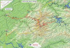 Map of Cherohala Skyway, beautiful drive