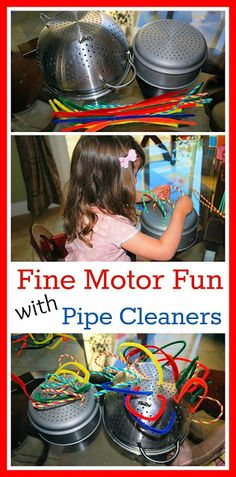 Mess For Less: Fun with Pipe Cleaners - Fine Motor Skills