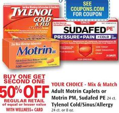 $3.00 OFF any (2) TYLENOL Cold or TYLENOL Sinus Printable Coupon Plus Rite Aid Matchup!