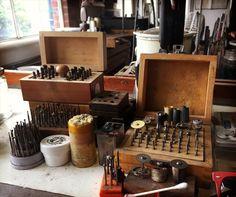 Peak into my studio, and my obsession with tools. #jewelrymaking #jewelrystudio