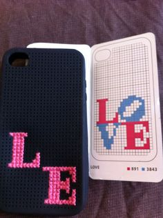 Customizing an iPhone Case with a Cross-stitch Pattern