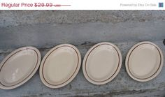on sale vintage buffalo china platters ironstone set of 4 wellsville 10 1/2 inch platters diner dishes