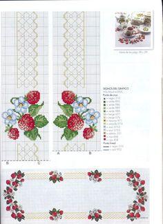 Gallery.ru / Фото #1 - και αυτ - ergoxeiro Cross Stitch Fruit, Cross Stitch Kitchen, Cross Stitch Borders, Cross Stitch Flowers, Cross Stitch Charts, Cross Stitch Designs, Cross Stitching, Cross Stitch Embroidery, Embroidery Patterns