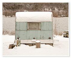 Camper Trailer Photograph  Landscape