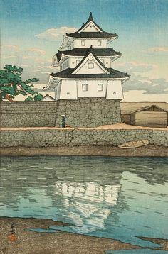 Takamatsu Castle, Sanuki Alternate Title: さぬきの高松城 Series: Souvenirs of Travel…