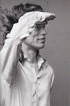 Mick Jagger | black & white photography | fashion | profile | salute | profile | the rolling stones | iconic | rock n roll | hot lips