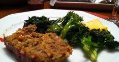 DJ took this picture of the lentil loaf after he had taken a bite.  Everyone who has tasted this recipe likes it.  I've posted the reci...