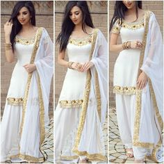 Simple Stylish Dresses For Women And Girls Pakistani Dress Design, Pakistani Outfits, Indian Outfits, Stylish Dresses, Fashion Dresses, Punjabi Dress, Punjabi Suits, Indian Designer Suits, Sari