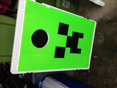 """""""Converted our corn hole set into a Kill the Creeper game for our son's Minecraft themed birthday party."""""""