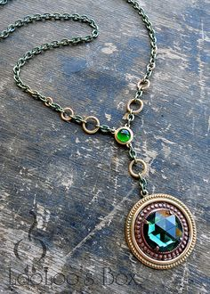 Layered Brass Necklace N0337 by Robin Delargy / LooLoo's Box, via Flickr