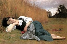Rest in Harvest believed to be by William Bouguereau, 1865...but ended up a forgery.  This painting belongs to Philbrook and is AMAZING when viewed in person.