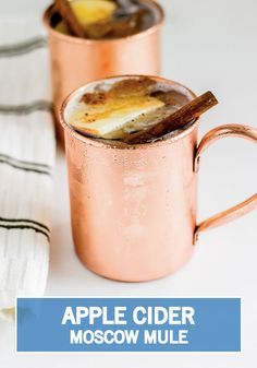 Give cocktail hour an autumnal twist with this recipe for a Apple Cider Moscow Mule. This fall mixed drink is ideal for serving up during your holiday parties—especially Halloween and Thanksgiving.
