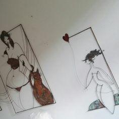 Disegni in filo di rame www.caterinazacchetti.com