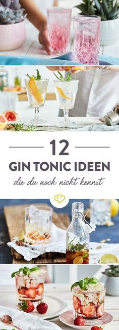 No gin and tonic is like any other. Here you will find not only 12 fantastic variations you may not know, but also tips and tricks. Informations About 12 Gin-Tonic-Varianten … Drinks Alcoholicas, Drinks Alcohol Recipes, Cocktail Drinks, Yummy Drinks, Cocktail Recipes, Cocktail Shaker, Vodka Cocktails, Vodka Martini, Cocktail Mix