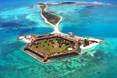 Almost 70 miles west of Key West, Florida, Dry Tortugas are accessible only by boat or seaplane. This is camping at it's most primitive- pack in, pack out. There are no resources on the island- just natural beauty and amazing history.