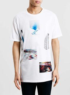 White Erupt Print T-Shirt