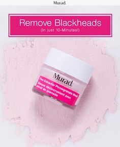 """"""" Free your skin from blackheads and clogged pores with Murad's new Pore Extractor Pomegranate Mask. Treat your skin to this intensive clay pore mask that will extract impurities from your skin, and reduce T-zone shine. Formulated with Pomegranate Extract and Polylactic Acid polishing beads, this pink mask exfoliates dead skin cells and extracts oils deep within your pores. Get cleaner and clearer skin with Murad's Pore Extractor Pomegranate Mask and our other Murad favorites!"""""""