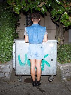 S02E06 <> www.hazbi.org <> all jeans + hourglass + male/female + high-waisted shorts + swiss fashion + opulent thinking + opulence Bold Fashion, Mens Fashion, All Jeans, Short Waist, Hourglass, High Waisted Shorts, Female, Inspiration, Moda Masculina