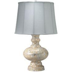 Saint Croix Mother of Pearl Table Lamp from PoshTots #PoshTotsNursery