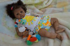 AA Ethnic Reborn baby from Dominic kit by Laura Tuzio Ross