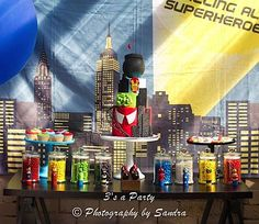 Superhero party with lots of fun ideas