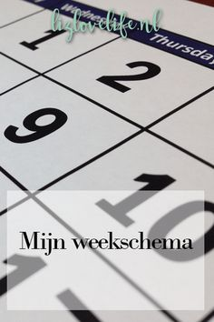 Lizlovelife Mijn weekschema Family